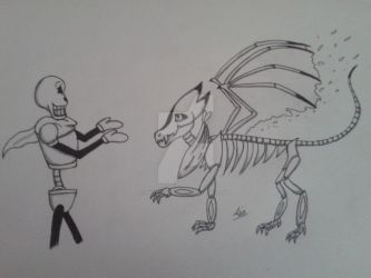 MythicalTale Papyrus draft by SkylerSkyhigh