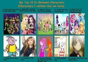 My Top 10 In-Between Characters by MiraculousLover22