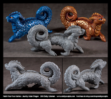 Paint-Your-Own Series : Jaunty Asian Dragon by emilySculpts