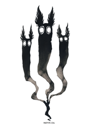 Ink Ghosts by Myrntai