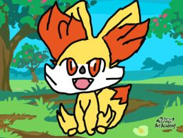 Fennekin Pokemon Art Academy drawing and request by mgunnels3