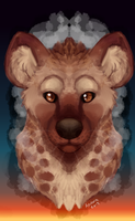 Hyena painting by Arvemis