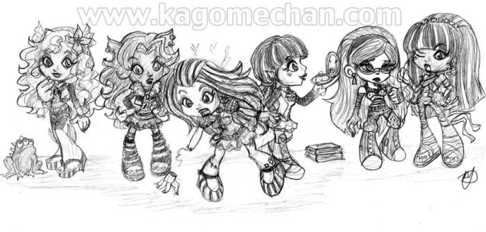 Monster High Chibi Group by I-heart-Link