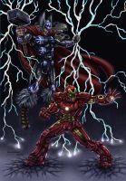 Earth's mightiest heroes COLOUR by Bungle0