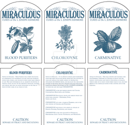 Miraculous Cures Bottle Labels by Valsheress