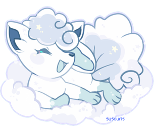 {POKE} Snow fox by Susouris