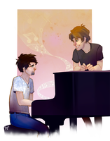 Commission- Piano Man by E-boc