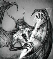 Ulquiorra in dreadful form by RomaniacC