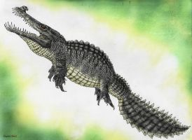 Land of Scales: Ruptorsaur (Charybdisuchus) by Quinn-Red