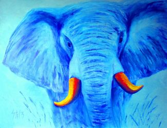 Blue Elephant by VladStelz