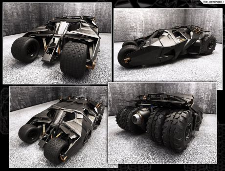 Batmobile - The Tumbler Street by artist-tortured