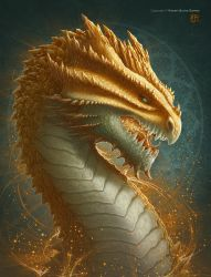 Citrine Dragon by kerembeyit