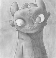 Toothless Pencil Drawing by Infinity499