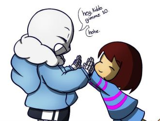 Sans And Frisk by BobWizardVilligr