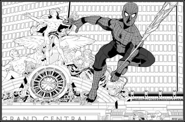 Grand Central Spider-Man by NathanKroll