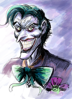 The Joker (sketch) by ShadowClawZ