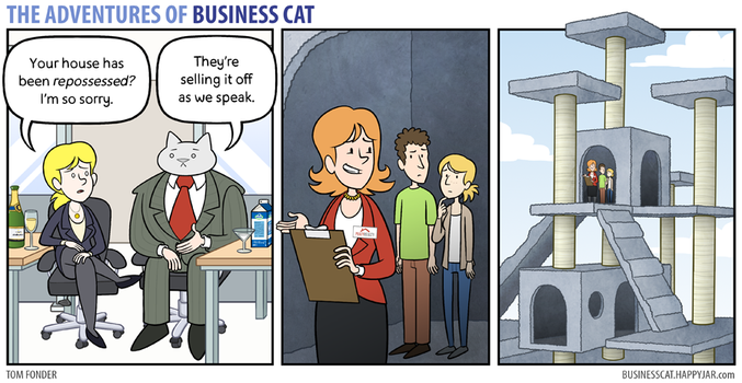 The Adventures of Business Cat - Repossession by tomfonder