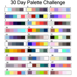 30 Day Palette Challenge by Vallentiny
