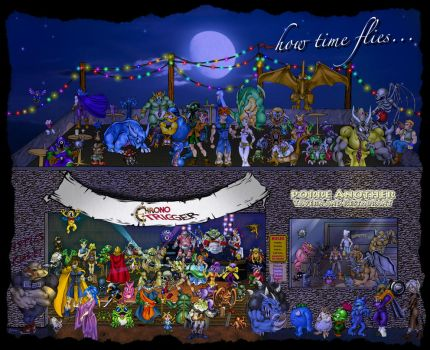 How Time Flies: Chrono Trigger 20th Anniversary by Toadman005