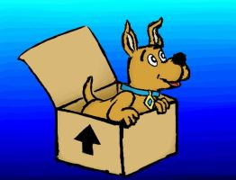 Scrappy Doo in a Box by Art3mis-X