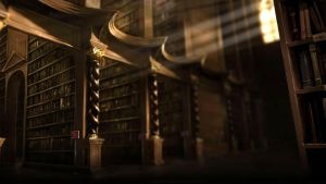 Pottermore Background: Hogwarts Library 1 by xxtayce