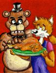 Thanksgiving at Freddy's by MugenPlanetX