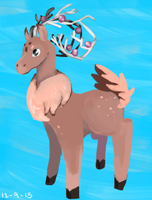 Flora deer sketch by RascalWabbit