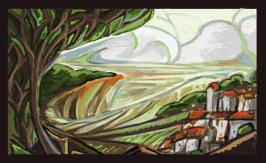 Landscape Sketch - 2010 by merbel
