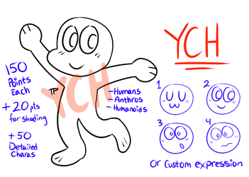 Cheap Chibi YCHs (8/10 SLOTS ON HOLD) by TabbyPiggy