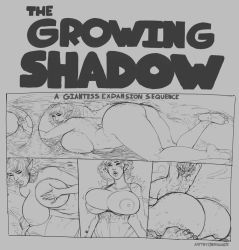 The Growing Shadow - A Giantess Growth Sequence by berggie