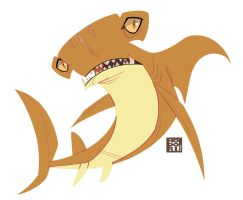 Hammerhead Shark by Hodori