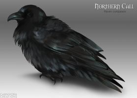 Northern Call: Raven companion by Chickenbusiness