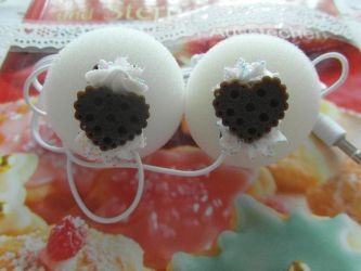 Choco Cookie  Ear Phone by AngelicLight100