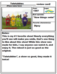 Teletubbies Review Card by great-crossover