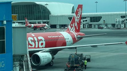 AirAsia Aircrafts with Default AirAsia Livery by IngeniusBrilliance