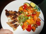 Chicken with a Sweet Potato Bell Pepper and Feta by TNoire