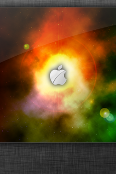 Space Apple - iPhone by sntxdesign