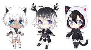 CLOSED BW Adopts #24 SET PRICE + EXTRAS by Yuu-adoptables