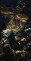 Geralt and Ghouls by vrass