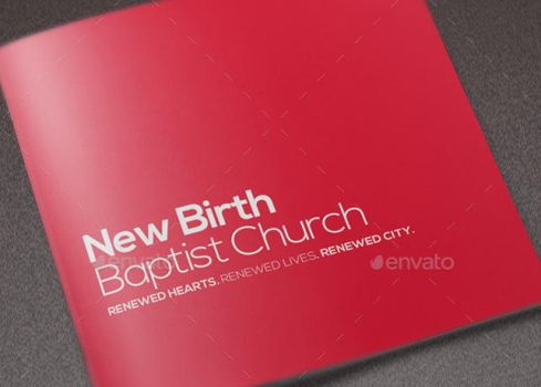Core Values Church Brochure Template by loswl