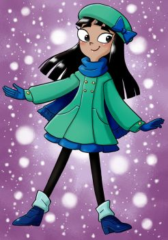Stacy in winter outfit 2018 by UOTSdA