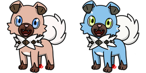 Pokemon #744 - Rockruff by Fyreglyphs