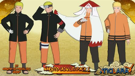Naruto - Naruto Uzumaki (Adult) PACK 1 FOR XPS!! by MVegeta