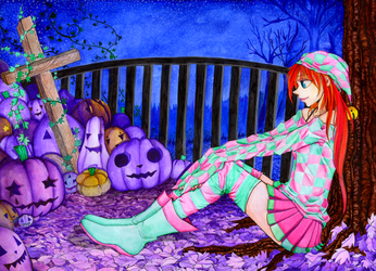 Halloween picture + The-end-of-year-pricture by mackyca