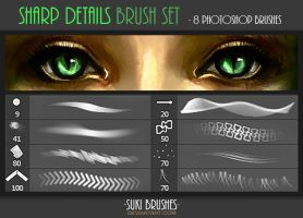 Sharp Details Brush Set by Suki-Brushes