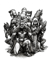 The Bat Family (INK) by Rayluaza