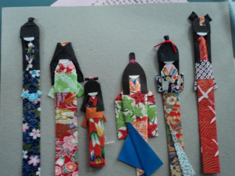 Japanese bookmarks by lilchibichan