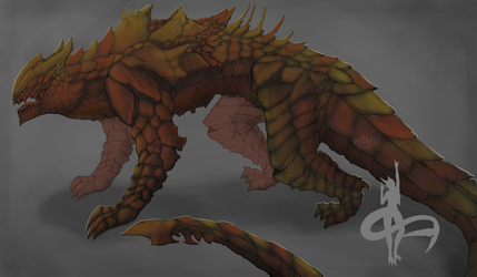 Moloch  the Ground Dragon - Concept Art by PustyXoX