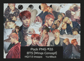 Pack PNG #35 -  BTS [Wings Concept] |01| by YuriBlack