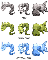 Pokemon Generations: 095 'Onix' - CRYSTAL ONIX